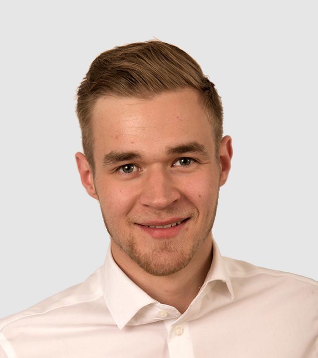 Ahlberg data personalen i Finland. Markus Holmström är ensam ansvarig för Ahlberg data i Finland.