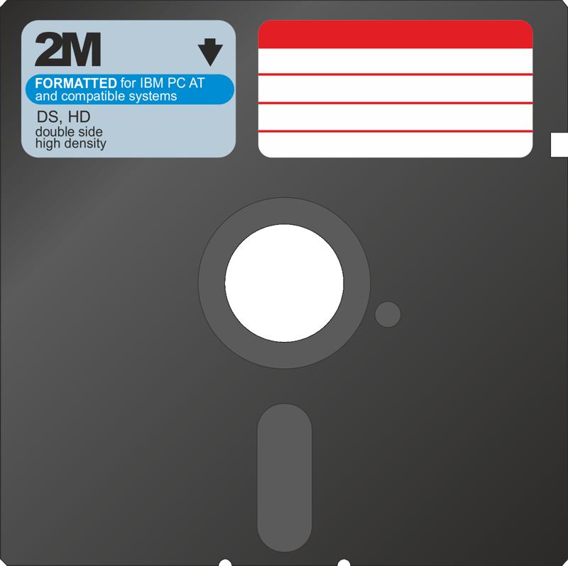 """Pehmeä 5,25"""" floppy-levy. Oli 80-luvulla usein tietokonneen ainoa tallennuslaite."""